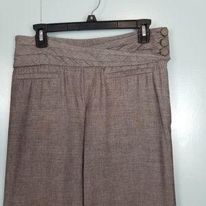 Anthropologie Pants - Anthropologie Elevenses brown wide leg pants sz 4